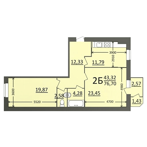 N-Invest-ЖК-Потьомкінський-Квартира-2-кк-вид-2