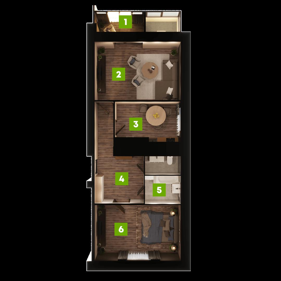N-Invest-ЖК-Центральний-Квартира-Секція-А-2-кк-вид-3
