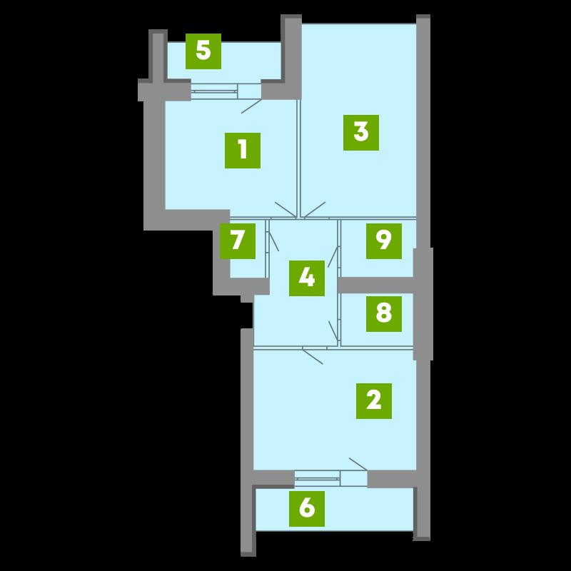 N-Invest-ЖК-Central-House-Квартира-Секція-1-2-кк