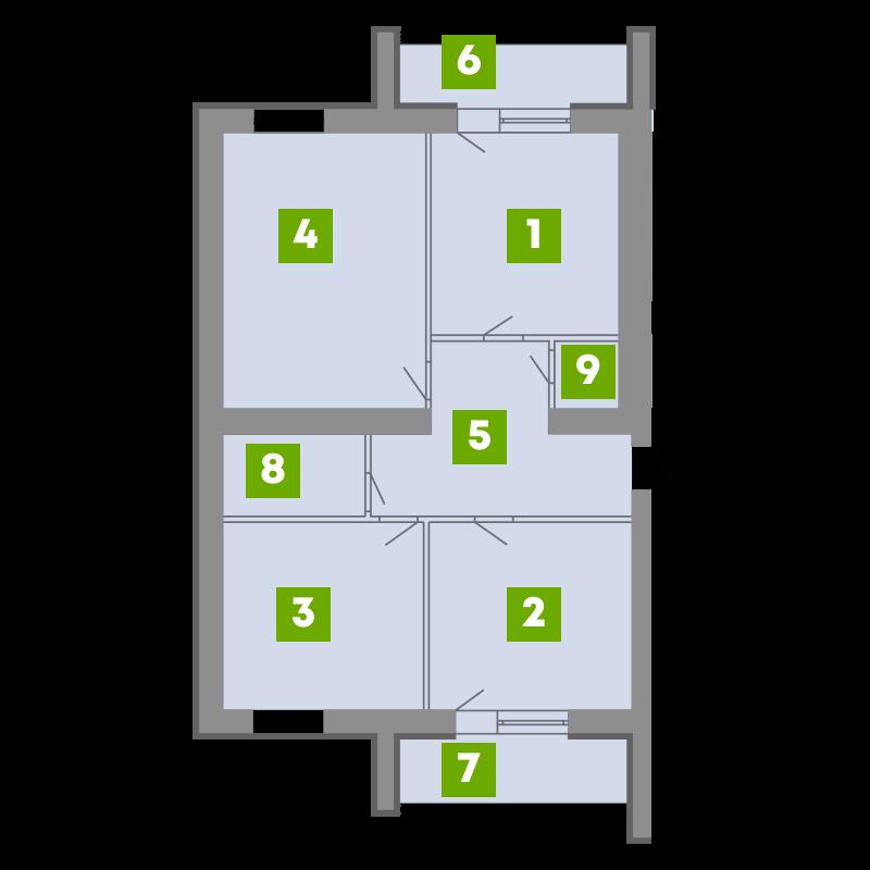 N-Invest-ЖК-Central-House-Квартира-Секція-1-3-кк