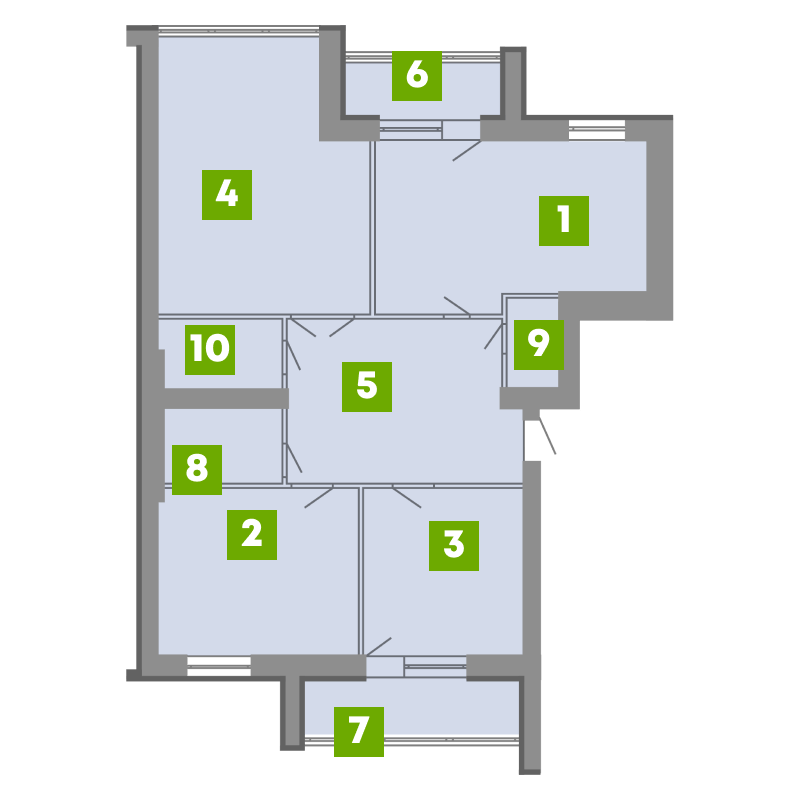 N-Invest-ЖК-Central-House-Квартира-Секція-2-3-кк-вид-1