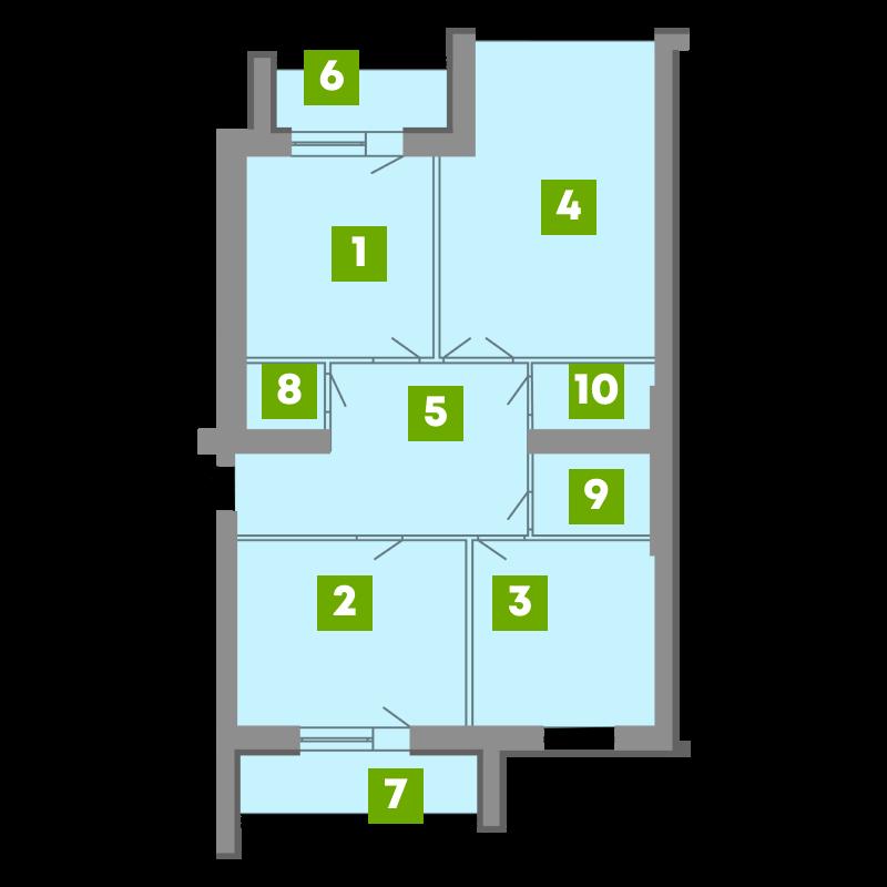 N-Invest-ЖК-Central-House-Квартира-Секція-2-3-кк-вид-2