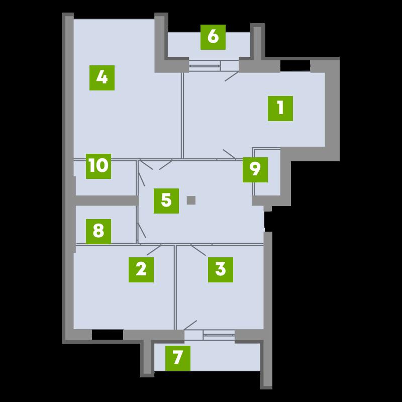 N-Invest-ЖК-Central-House-Квартира-Секція-3-3-кк-вид-1