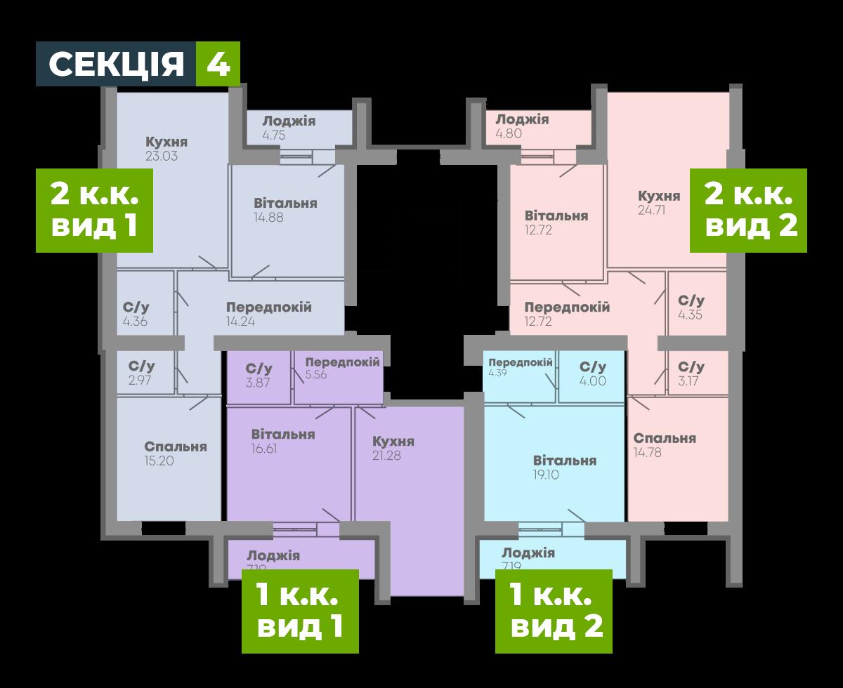 N-Invest-ЖК-Central-House-Квартира-Секція-4